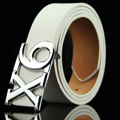 Letter X and Number 6 Shape Alloy Embellished Belt For Men