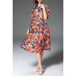 Floral Print Loose Fitting Dress deal