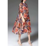 Floral Print Loose Fitting Dress for sale