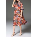 best Floral Print Loose Fitting Dress
