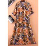Floral Print Loose Fitting Dress photo