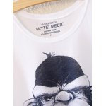 Simple Style Women's Gorilla Pattern Short Sleeve T-Shirt deal