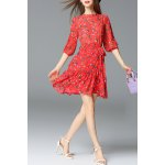 Mock Neck Mushroom Print Mini Dress deal