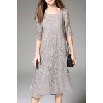 Embroidery Midi Dress deal