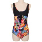 best Stylish Scoop Neck Floral Print Hollow Out Women's Swimwear