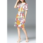 Floral Print Slit Shirt Dress deal