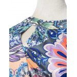 Bohemian Lantern Sleeve Printed Women's Maxi Dress deal