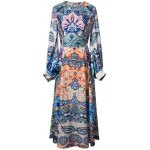 Bohemian Lantern Sleeve Printed Women's Maxi Dress
