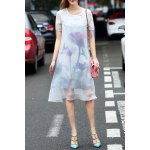 Ethereal Round Neck Double-Layered Dress for sale