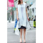 A-Line Ink Painting Dress With Overlay for sale