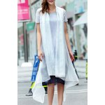 A-Line Ink Painting Dress With Overlay