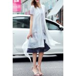 best A-Line Ink Painting Dress With Overlay