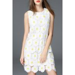 Daisy Pattern Mini Dress