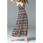 Halter Printed Ankle-Length Dress for sale