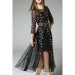 Tiny Floral Embroidered Sheer Dress deal