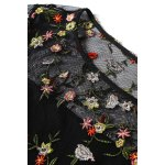 Tiny Flower Embroidered Sheer Dress photo