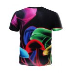 cheap Summer 3D Round Neck Colored Mushroom Pattern Short Sleeve T-Shirt For Men