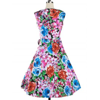 Retro Colorized Floral Sleeveless Sweetheart Neck Womens DressWomens Clothing<br>Retro Colorized Floral Sleeveless Sweetheart Neck Womens Dress<br><br>Style: Vintage<br>Material: Cotton Blend<br>Silhouette: A-Line<br>Dresses Length: Knee-Length<br>Neckline: Sweetheart Neck<br>Sleeve Length: Sleeveless<br>Embellishment: Bowknot<br>Pattern Type: Floral<br>With Belt: No<br>Season: Summer<br>Weight: 0.470kg<br>Package Contents: 1 x Dress