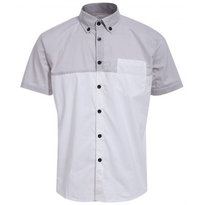 Button-Down Men\'s Summer White Shirts