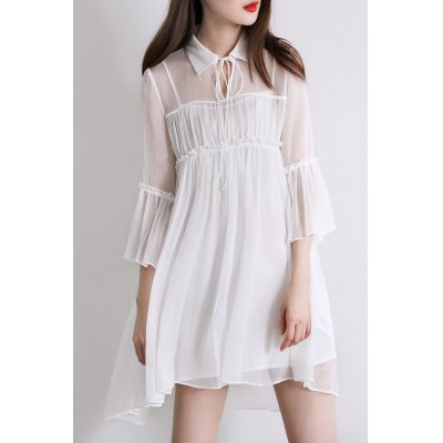 Flare Sleeve Dress and Cami Dress Twinset