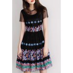 Embroidery High Waist Dress deal