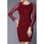 Zippered Mini Fitted Dress