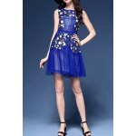 best Floral Embroidered Sleeveless Dress