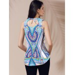Ethnic V-Neck Printed Cut Out Top For Women deal