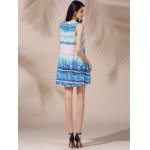 Casual Scoop Neck Printed Sleeveless Sun Dress For Women for sale
