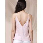 Casual Solid Color Backless Slit Cami Top For Women for sale