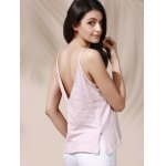 Casual Solid Color Backless Slit Cami Top For Women deal