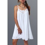 Spaghetti Strap Lace Splicing Dress