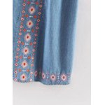Ethnic Style Sleeveless Retro Embroidery Chambray Dress For Women deal