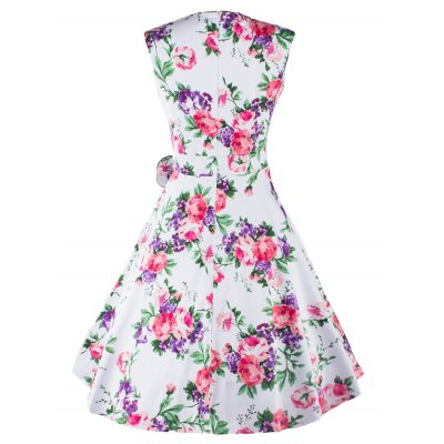 Retro Sweetheart Neck Floral Pattern Sleeveless Womens DressWomens Clothing<br>Retro Sweetheart Neck Floral Pattern Sleeveless Womens Dress<br><br>Style: Vintage<br>Material: Cotton Blend<br>Silhouette: A-Line<br>Dresses Length: Knee-Length<br>Neckline: Sweetheart Neck<br>Sleeve Length: Sleeveless<br>Embellishment: Bowknot<br>Pattern Type: Floral<br>With Belt: No<br>Season: Summer<br>Weight: 0.470kg<br>Package Contents: 1 x Dress