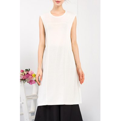 Solid Color Knitted Dress