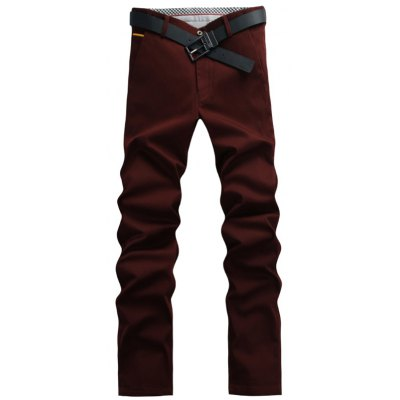 Casual Solid Color Pants For Men