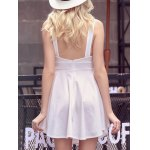 Sweet Solid Color Scoop Neck Backless Women's Sundress