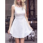 Sweet Solid Color Scoop Neck Backless Women's Sundress deal