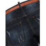 Casual Ripped Straight Legs Solid Color Zip Fly Men's Jeans deal