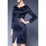 Sweetheart Neck Embroidered Mini Dress deal