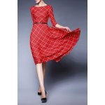 Plaid Belted Swing Dress deal
