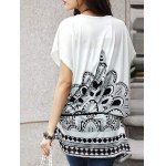 Fashionable Women's Short Sleeve Floral Print Loose-Fitting T-Shirt deal