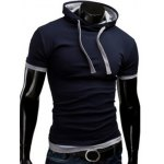 Hooded Solid Color Short Sleeve T-Shirt For Men