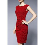 Jacquard Sheath Sleeveless Dress deal