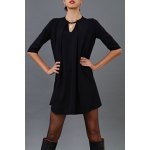 Pleated Cut Out Mini Dress