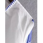 Casual Embroidered White Women's Shift Dress deal