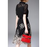cheap Hollow Out Embroidered Dress