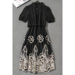 Hollow Out Embroidered Dress for sale