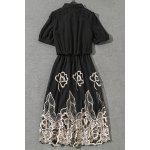 best Hollow Out Embroidered Dress