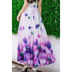 Trendy Elastic Waist Floral Pattern Women's Maxi Skirt deal
